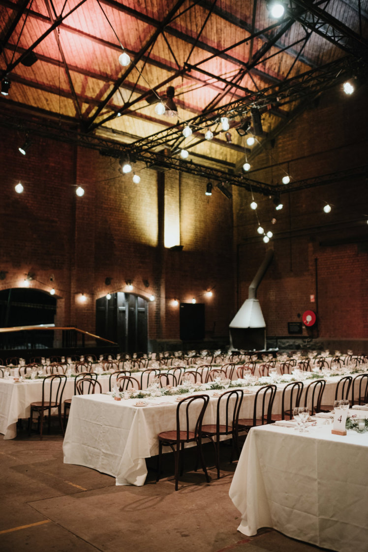 Wedding in an industrial city venue